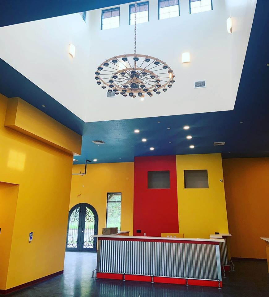 The colorful interior view of Andrade's